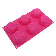fleur rose en forme de moule à cake en silicone moule 29,8 cm * 17,5 cm * 3 cm