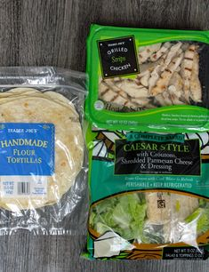Dinner Ideas On A Budget Trader Joe's - Dinner Chicken Caesar Wrap, Chicken Caesar Salad, Trader Joes Food, Trader Joe's, Trader Joes Salad, Best Of Trader Joes, Trader Joe Meals, Trader Joes Healthy Snacks, Lunch Recipes