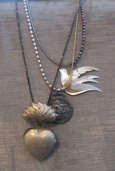 Ex Voto Flaming Heart Necklace