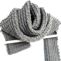 Ridge Rib Men's Scarf -free pattern