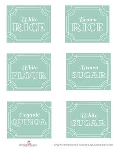 free printable pantry labels (see beautiful pantry space that goes with these labels in the link!)