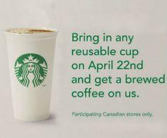 Free Starbucks Coffee for #EarthDay http://free.ca/free-samples/free-starbucks-coffee-or-tea/