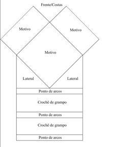 Material: – 1 novelo Círculo Charme cor 7684 (bege), – Agulha para crochê Círculo nº 3mm, – Agulha de grampo Círculo 9,5 cm.