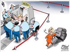 2016 Trump Hillary media
