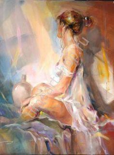 Молчание, художник Анна Разумовская, картины раскраски по №, размер 40х50см.