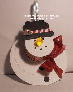 Image result for tea light snowman ornaments