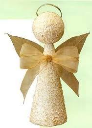 Resultado de imagem para como fazer anjo de natal com rolo de papel higienico epapel toalha