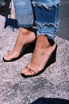 Maryam Nassir Zadeh Olympia Wedge as seen on Margot Robbie