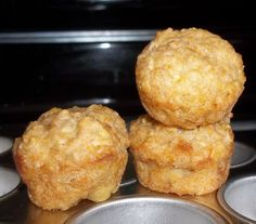 Sugar-Free Apple, Banana, and Carrot Muffins ~Made these as mini muffins (baking…