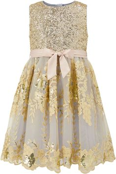 Special occasions call for a touch of sparkle, and our Tigerlilly dress for girls is sure to steal the show thanks to its stunning sequin embellishment. Nice Dresses, Girls Dresses, Flower Girl Dresses, Gold Sequin Dress, Sequin Skirt, Gold Sparkle, Wedding Attire, Special Occasion Dresses, Fashion Dresses