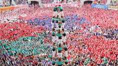 In the city of Tarragona, Spain, castellers gather every two years to see who can build the highest, most intricate human castles. This is so intense!