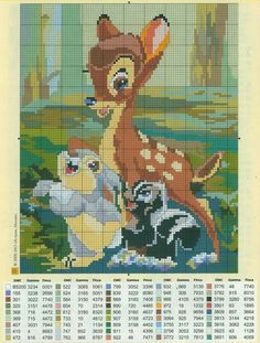 Bambi in cross stitch Cross Stitching, Cross Stitch Embroidery, Embroidery Patterns, Disney Stitch, Disney Cross Stitch Patterns, Cross Stitch Designs, Disney Cross Stitches, Cross Stitch Baby, Cross Stitch Charts