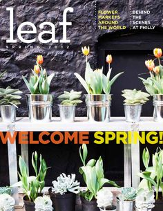 Leaf Magazine - Celebrate spring with a fresh approach to design outside!