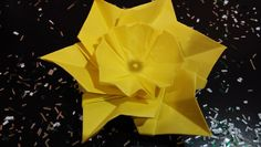 Origami Narcissus / Daffodil . Christmas table decoration. Украшение на ... ***