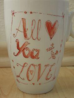 ALL YOU NEED IS LOVE...und einen leckeren Tee aus dieser Tasse :)) minipli Porzellan