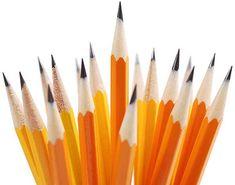 Freshly sharpened pencils