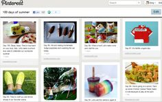 Ha HA I am pinning a blog post directing you to a pinterest board.  Is that weird?  Anyway, cool board of 100 summer activities.