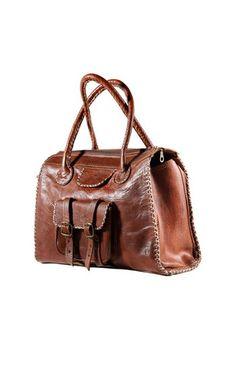 Vintage brown leather tote - love. Vintage Bag by elkarti Morocco Brown  Leather Totes a2d506466925b