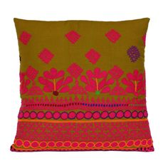 embroidery -- Vintage Mehal Pillow