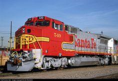 RailPictures.Net Photo: ATSF 549 Atchison, Topeka & Santa Fe (ATSF) GE B40-8W (Dash 8-40BW) at Los Angeles, California by Joe Blackwell
