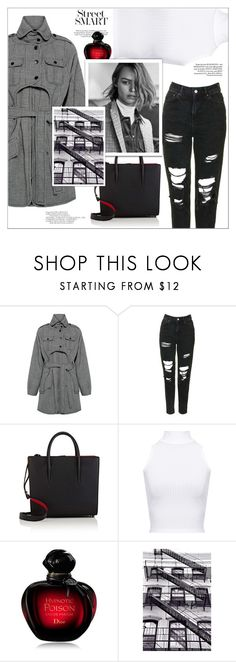 """""""Plaid Coat"""" by arwitaa on Polyvore featuring Marissa Webb, Topshop, Christian Louboutin, WearAll and Christian Dior"""