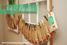 Love that this one comes with an easy devotion to do with kids for each day. Moments With My Miracles: DIY Advent Calendar with Easy Devotions