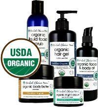 Herbal Choice Mari USDA Certified Organic Skin Care Products with USDA Logo - 100% natural certified organic skin care products to help rejuvenate your skin.