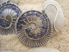Nautilus EarringsSterling silver and Iolite by julidadesigns