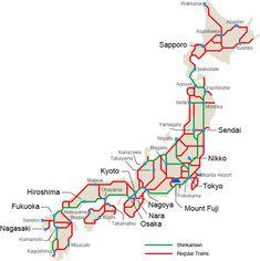 Japan Rail Pass Map Crystal Dive Award Winning 5 Star Scuba Diving on Tropical Koh Tao in Thailand. Japan Travel Guide, Tokyo Travel, Tokyo Map, Japan Beach, National Rail, Beppu, Japan Holidays, Japan Country, Rail Pass