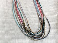 Silver Hematite and Light Pink Seed Bead by LittleJayMalas on Etsy