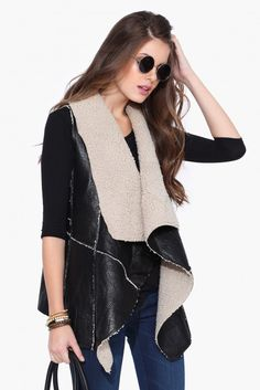 Shearling Vest in Camel | Necessary Clothing