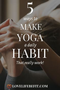 We all love the idea of yoga but one class a week doesn't really cut it. Read on to find out how to make yoga a daily habit with these 5 tips that work. These are ideal habits to adopt for yoga beginners. Yoga Flow, Yoga Meditation, Yin Yoga, Yoga Beginners, Beginner Yoga, Yoga Fitness, Fitness Tips, Health Fitness, Yoga Moves