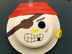 Pirate mask. Ages 5+. Precut an eyehole out of the paper plate. & Paper Plate Masquerade Mask \