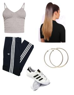 """""""Untitled #90"""" by haileymagana on Polyvore featuring adidas Originals, BasicGrey and adidas"""