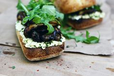 Would like to take this on a picnic: Butter Roasted Triple Mushroom Sandwich #recipe by @mushroomscanada #vegetarian