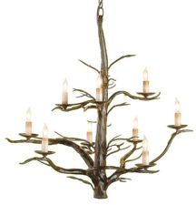 Currey & Company 9327 9 Light Treetop Chandelier, Old Iron - Lighting Universe Branch Chandelier, Rustic Chandelier, Chandelier Lighting, Eclectic Chandeliers, Large Chandeliers, Designer Chandeliers, Traditional Chandeliers, Bliss Home And Design, Houses