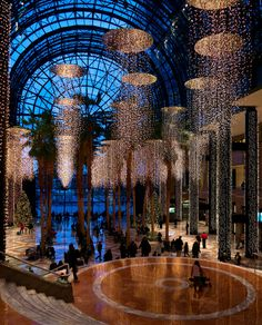 The Winter Garden Atrium located in the World Financial Center right next to Ground Zero & the former WTC -  #NYC