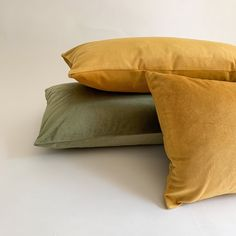 Olive Green Velvet Pillow Collection - 20x20 / Yes