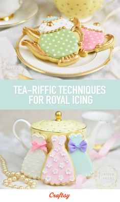 Tea-riffic is an understatement! Featuring 27 pages of tips and tutorials from the experts at Juniper Cakery, this free downloadable guide is the perfect way to learn how to decorate cookies with royal icing.