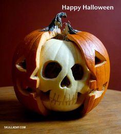 pumpkin jack o lantern skull