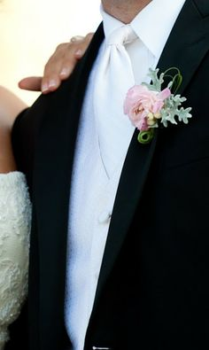 Floral Spotlight: Dusty Miller | Lovely Little Details Rustic Boutonniere, Boutonnieres, Dusty Miller, Wedding Shoot, Corsage, Floral Tie, Pink Flowers, Spotlight, Detail
