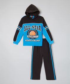 ff239454d Look at this Allura Imports Blue  All Star  Hoodie   Black Pants - Toddler    Boys by Allura Imports