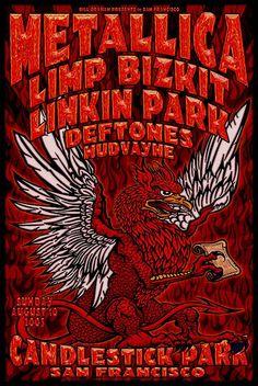 Metallica, Limp Bizkit, Linkin Park, Deftones, Mudvayne