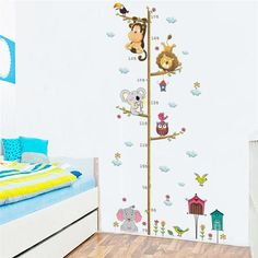 Tree with Animals Growing Chart, Free Shipping