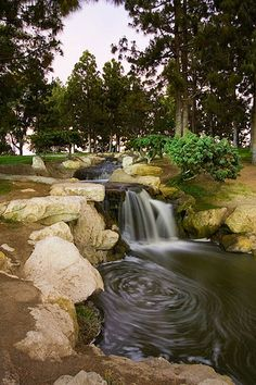 Tewinkle Park in Costa Mesa is cute with a pond, waterfalls, and some grassy areas for a sweet family photoshoot - and expect to spend some play-time at the little play park afterward!