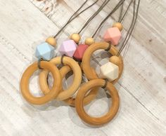 Nursing necklace, mimi necklace, Natural wood teether, teething necklace for mom. Boho necklace, silicon and wood necklace. Teething Necklace For Mom, Teething Bracelet, Nursing Necklace, Christmas Gift Guide, Christmas Gifts For Her, Boho, Trendy Accessories, Fashion Accessories, Natural Baby