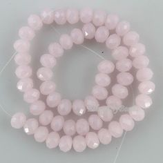 Full 8 Inch Strand Brand New Rose Quartz SMOOTH Rondelles,6-9mm GIANT Size,Very Nice Quality  Smooth Rondells.