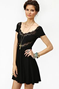 You can never have enough little black dresses. This Angels Whisper Dress by Nastygal is adorable.