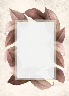Golden frame on a brown leafy background illustration Flower Background Wallpaper, Frame Background, Flower Backgrounds, Wallpaper Backgrounds, Iphone Wallpaper, Background Designs, Iphone Backgrounds, Vector Background, Instagram Frame