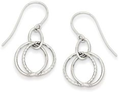 Zales Intertwined Circle Drop Earrings in 14K White Gold